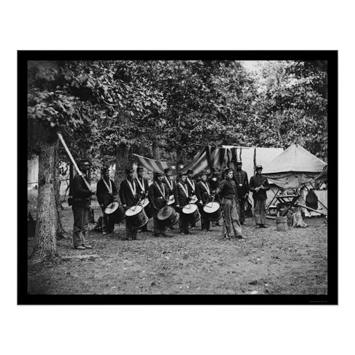 Drum Corps in Bealeton, VA 1863 Print