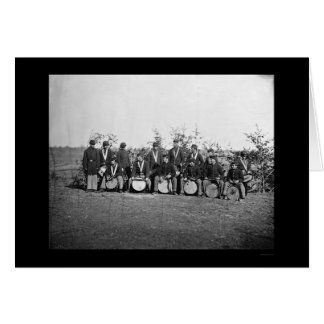 Drum Corps Infantry in Falmouth, VA 1863 Greeting Card