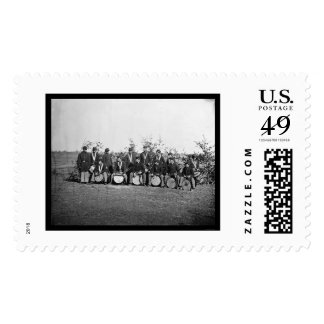 Drum Corps Infantry in Falmouth, VA 1863 Stamps