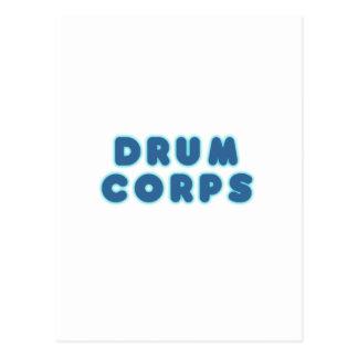 DRUM CORPS POSTCARD