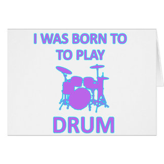 Drum Deigns Greeting Cards