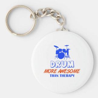 drum design key chain