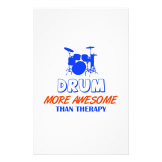 drum design stationery