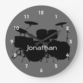 Drum Design Wall Clock