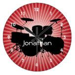 Drum Design Wall Clock