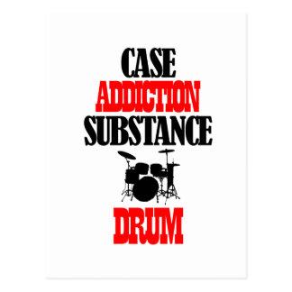 Drum designs postcards