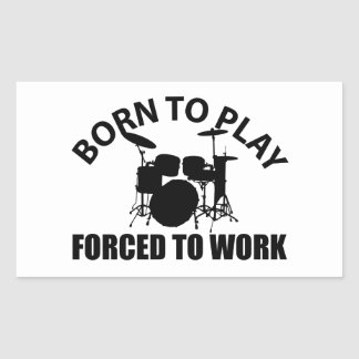 Drum Designs Rectangular Sticker