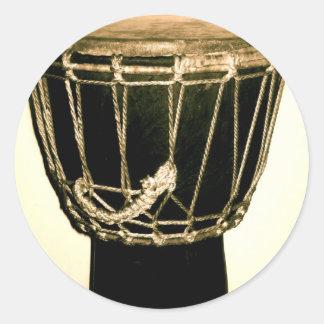 Drum Drum Drumming! Classic Round Sticker