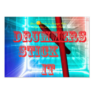 Drum Drummer Card or Invitation YOUR TEXT