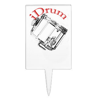 Drum Drummer Marching Plate Dining Cake Topper