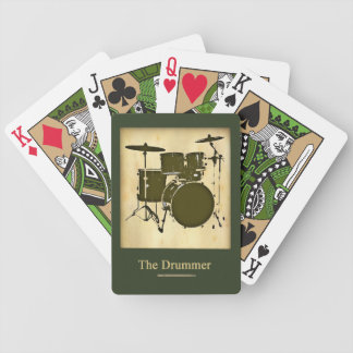 drum / drums bicycle playing cards