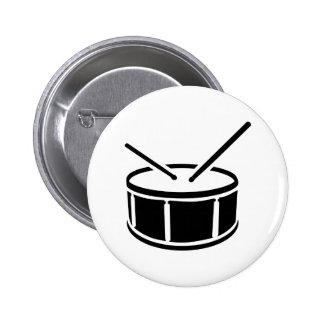 Drum drumsticks button