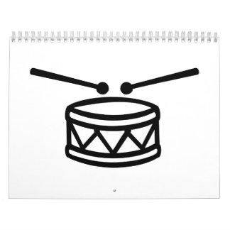 Drum Drumsticks Calendar