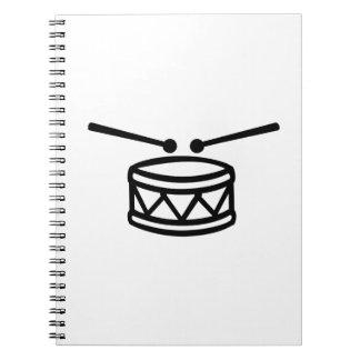 Drum Drumsticks Spiral Notebook