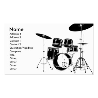 drum_edge Double-Sided standard business cards (Pack of 100)