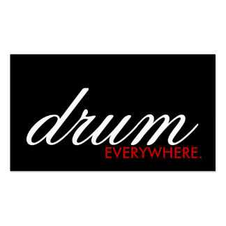 DRUM everywhere. (color customizable) Business Card