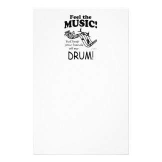 Drum Feel The Music Stationery