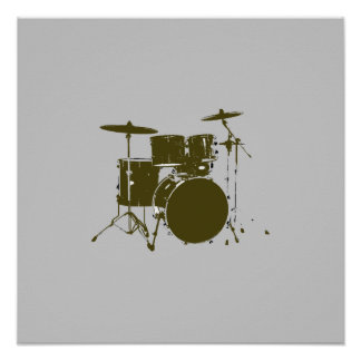 drum for walls, musical print