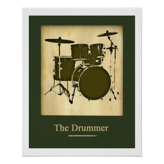Drum for walls poster