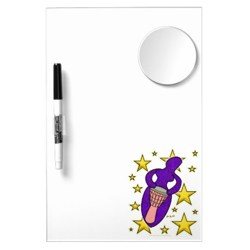 Drum Goddess Dry Erase With Mirror Dry-Erase Whiteboard