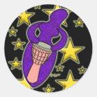 Drum Goddess Sticker Round