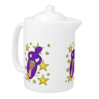 Drum Goddess Teapot
