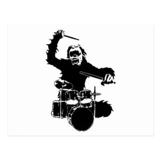 drum_gorilla_black.png postcard