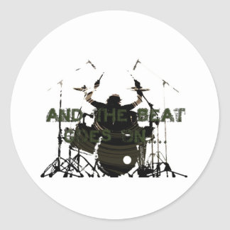 Drum Hero Classic Round Sticker