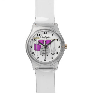 Drum Just Add Name Wristwatches