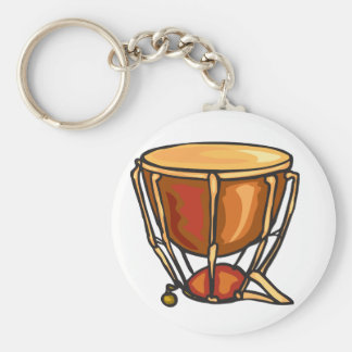 Drum Keychain Basic Round Button Keychain