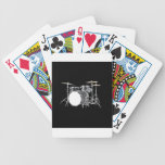 """Drum Kit 2"" design gifts and products Bicycle Playing Cards"