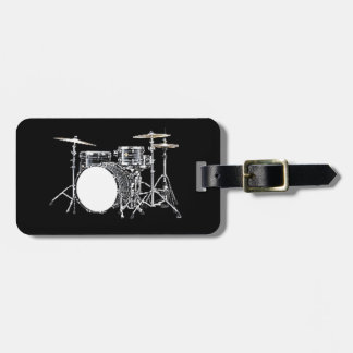 """""""Drum Kit 2"""" design gifts and products Travel Bag Tag"""