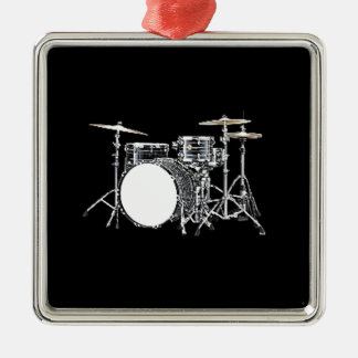"""""""Drum Kit 2"""" design gifts and products Metal Ornament"""