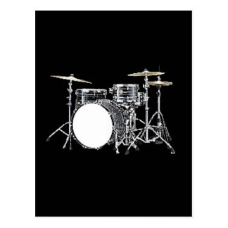 """Drum Kit 2"" design gifts and products Post Card"