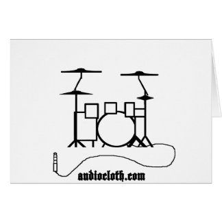 Drum Kit and Cable Greeting Card