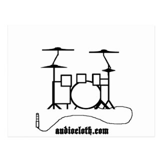 Drum Kit and Cable Postcard