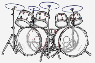 678c6abd Drum Set Black T-Shirts - T-Shirt Design & Printing | Zazzle