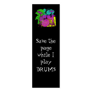 drum kit bookmark business cards