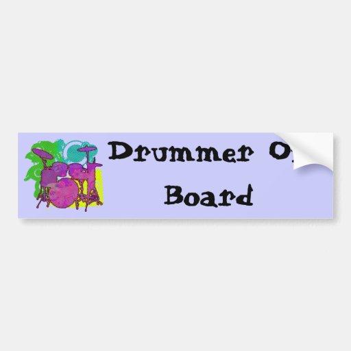 drum kit car bumper sticker