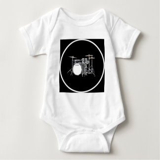 """Drum Kit"" design gifts and products Baby Bodysuit"