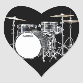 """""""Drum Kit"""" design gifts and products Heart Sticker"""
