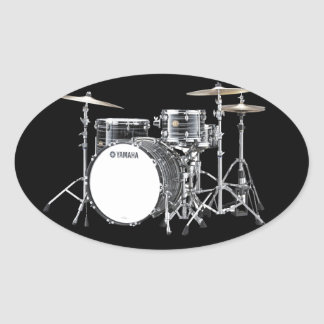 """""""Drum Kit"""" design gifts and products Oval Sticker"""