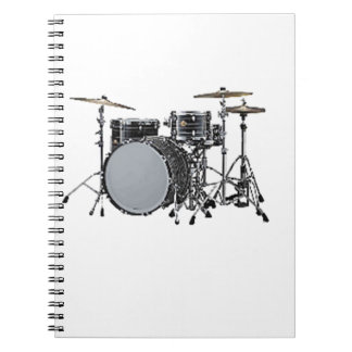 """""""Drum kit"""" design gifts and products Spiral Notebook"""