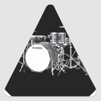 """""""Drum Kit"""" design gifts and products Triangle Sticker"""