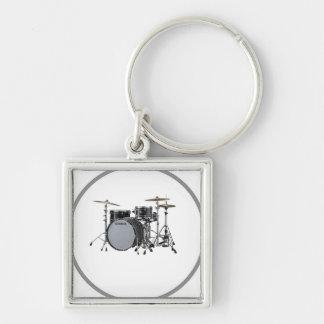 """Drum Kit"" design jewelry set Key Chains"