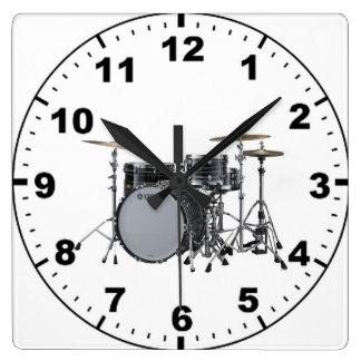"""""""Drum kit"""" design wall clocks"""