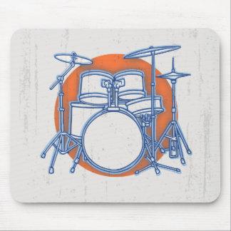 Drum Kit Offset Mouse Pad