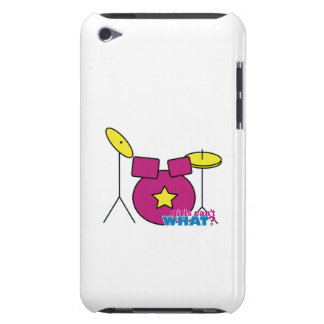 Drum Kit -  Pink Barely There iPod Cases