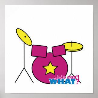 Drum Kit -  Pink Posters