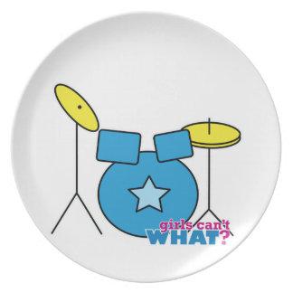 Drum Kit Dinner Plates